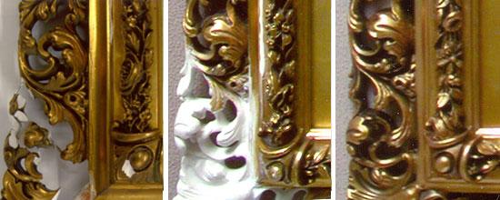 Reparation och restaurering av tavelram